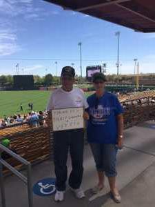 Terry attended Chicago White Sox vs. Arizona Diamondbacks - MLB Spring Training on Mar 20th 2019 via VetTix