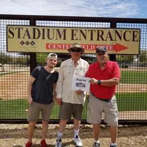 TIMOTHY attended Chicago White Sox vs. Arizona Diamondbacks - MLB Spring Training on Mar 20th 2019 via VetTix
