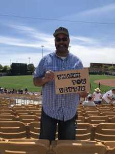 Walter attended Chicago White Sox vs. Arizona Diamondbacks - MLB Spring Training on Mar 20th 2019 via VetTix
