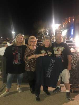 Linda attended Chris Tomlin Holy Roar Tour on Mar 17th 2019 via VetTix