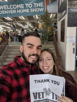David attended Denver Home Show - Tickets Good for Any One Day - * See Notes on Mar 22nd 2019 via VetTix