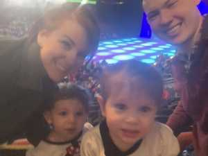 Ryder and Kayla Nush attended Disney on Ice presents: Dare to Dream on Mar 14th 2019 via VetTix