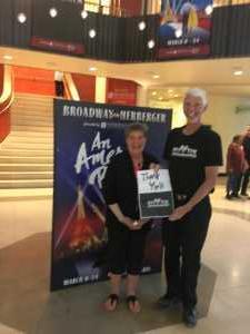 Dennis  & Diane attended An American in Paris on Mar 15th 2019 via VetTix
