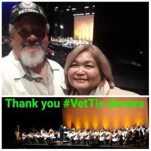 Vincent, Nancy and crew attended Boston Pops Orchestra With Conductor Keith Lockhart on Mar 20th 2019 via VetTix