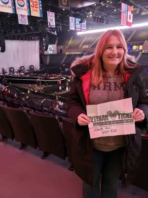 John attended Kelly Clarkson the Meaning of Life Tour on Mar 7th 2019 via VetTix