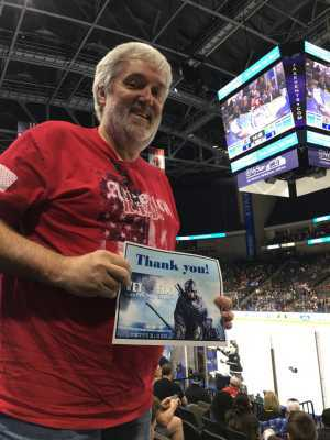William attended Jacksonville Icemen vs. Atlanta Gladiators - ECHL on Mar 29th 2019 via VetTix