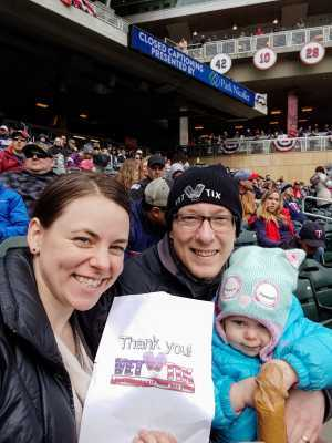Dawn attended Minnesota Twins vs. Cleveland Indians  - MLB on Mar 31st 2019 via VetTix