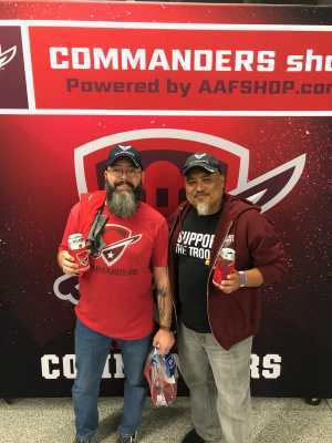 Todd attended San Antonio Commanders vs. Salt Lake Stallions - AAF on Mar 23rd 2019 via VetTix