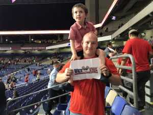 Benjamin attended San Antonio Commanders vs. Salt Lake Stallions - AAF on Mar 23rd 2019 via VetTix