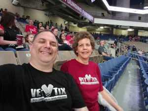 Brad/Peggy attended San Antonio Commanders vs. Salt Lake Stallions - AAF on Mar 23rd 2019 via VetTix
