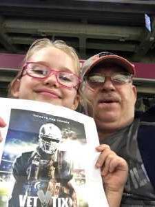 Melvin attended San Antonio Commanders vs. Salt Lake Stallions - AAF on Mar 23rd 2019 via VetTix