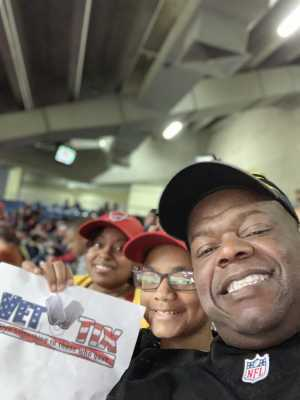 Calvin attended San Antonio Commanders vs. Salt Lake Stallions - AAF on Mar 23rd 2019 via VetTix