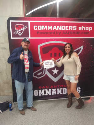 Edward attended San Antonio Commanders vs. Salt Lake Stallions - AAF on Mar 23rd 2019 via VetTix