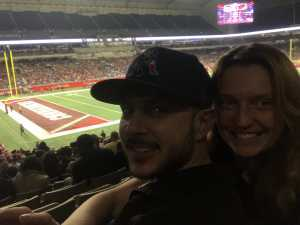 Cynthia attended San Antonio Commanders vs. Salt Lake Stallions - AAF on Mar 23rd 2019 via VetTix