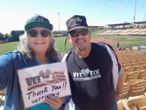 Marion Richard Tirado attended Chicago White Sox vs. Cleveland Indians - MLB - Spring Training on Mar 24th 2019 via VetTix