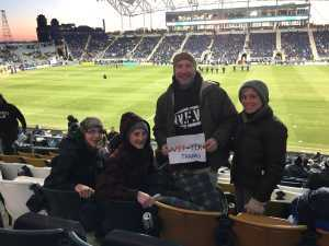 Burton attended Philadelphia Union vs Columbus Crew SC - MLS on Mar 23rd 2019 via VetTix