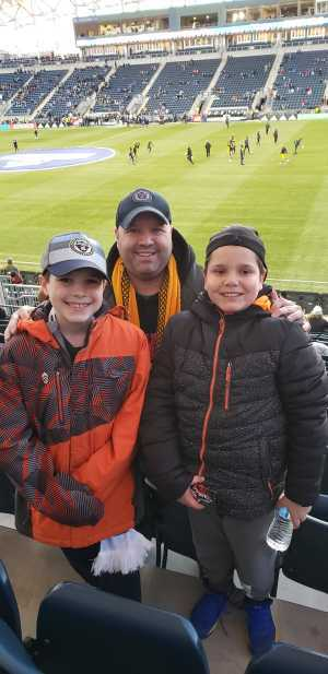 Frankie attended Philadelphia Union vs Columbus Crew SC - MLS on Mar 23rd 2019 via VetTix