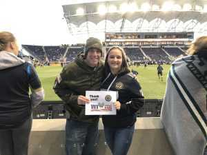Matt attended Philadelphia Union vs Columbus Crew SC - MLS on Mar 23rd 2019 via VetTix