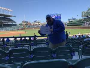 Frank attended Chicago Cubs vs. Arizona Diamondbacks - MLB on Apr 21st 2019 via VetTix