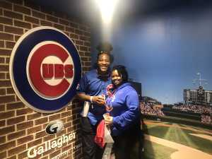 Letitia attended Chicago Cubs vs. Arizona Diamondbacks - MLB on Apr 21st 2019 via VetTix