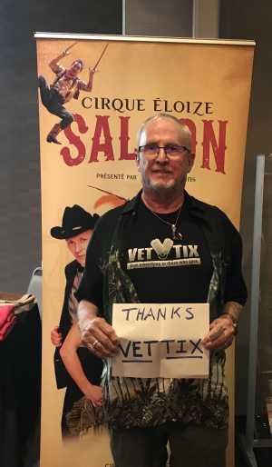 Harland attended Cirque Eloize Saloon on Mar 23rd 2019 via VetTix