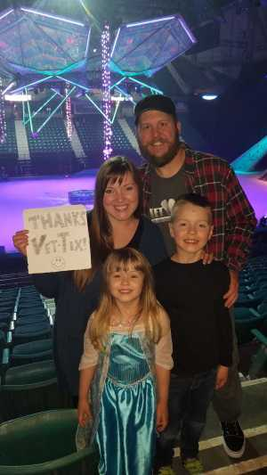 Nathan attended Disney on Ice Presents Frozen - Ice Shows on Apr 25th 2019 via VetTix