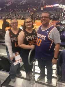 Joshua attended Phoenix Suns vs. Detroit Pistons - NBA on Mar 21st 2019 via VetTix