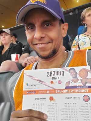 Guillermo attended Phoenix Suns vs. Detroit Pistons - NBA on Mar 21st 2019 via VetTix