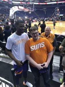 Jeremy attended Phoenix Suns vs. Detroit Pistons - NBA on Mar 21st 2019 via VetTix