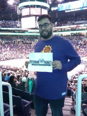 Alvaro attended Phoenix Suns vs. Detroit Pistons - NBA on Mar 21st 2019 via VetTix