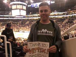 Garret attended Phoenix Suns vs. Detroit Pistons - NBA on Mar 21st 2019 via VetTix