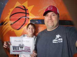 Randall attended Phoenix Suns vs. Detroit Pistons - NBA on Mar 21st 2019 via VetTix