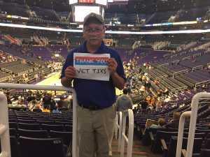 Randy attended Phoenix Suns vs. Detroit Pistons - NBA on Mar 21st 2019 via VetTix