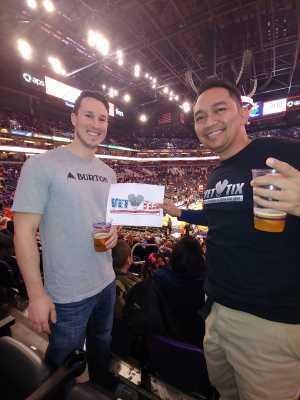 Cesar attended Phoenix Suns vs. Detroit Pistons - NBA on Mar 21st 2019 via VetTix