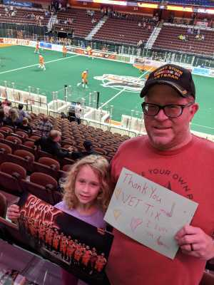 David attended New England Black Wolves vs. San Diego Seals - Fan Appreciation Night - National Lacrosse League on Apr 6th 2019 via VetTix