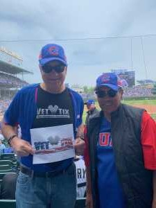 Paul attended Chicago Cubs vs. Colorado Rockies - MLB on Jun 6th 2019 via VetTix