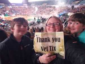 Mary attended Harlem Globetrotters - Fan Powered Wold Tour on Mar 23rd 2019 via VetTix