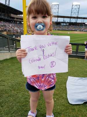 Brian attended Colorado Rockies vs. Kansas City Royals - MLB Spring Training - Lawn Seating on Mar 20th 2019 via VetTix