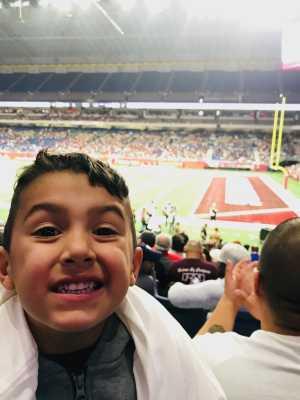 Christopher attended San Antonio Commanders vs. Arizona Hotshots - AAF on Mar 31st 2019 via VetTix