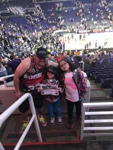 Jose attended Phoenix Suns vs. Washington Wizards - NBA on Mar 27th 2019 via VetTix