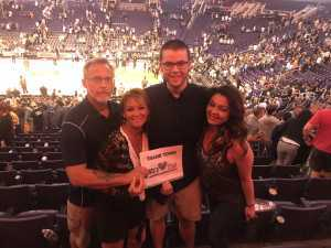 Lisa attended Phoenix Suns vs. Washington Wizards - NBA on Mar 27th 2019 via VetTix