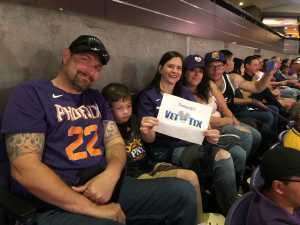 Tina attended Phoenix Suns vs. Washington Wizards - NBA on Mar 27th 2019 via VetTix