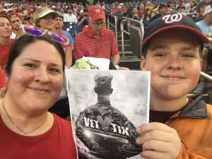 Kristen attended Washington Nationals vs. Philadelphia Phillies - MLB on Jun 19th 2019 via VetTix