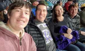 Tyler attended Colorado Rockies vs. Philadelphia Phillies - MLB on Apr 18th 2019 via VetTix