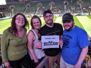 Darin attended Denver Dream vs. Los Angeles Temptation - Legends Football League - Women of the Gridiron on Apr 26th 2019 via VetTix