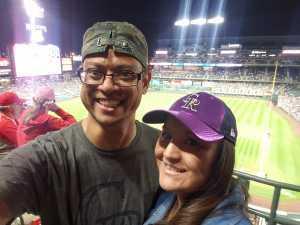 Anita attended Colorado Rockies vs. Philadelphia Phillies - MLB on Apr 19th 2019 via VetTix