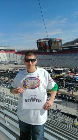 Laranza attended Food City 500 - KB100 - Kurt Busch Fan Appreciation Tickets on Apr 7th 2019 via VetTix