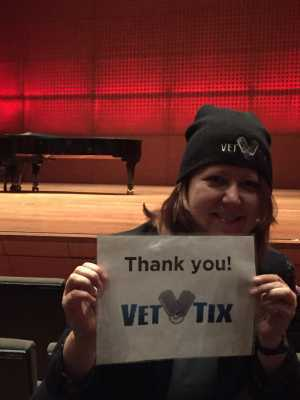 Kimberly attended The Chamber Music Society of Lincoln Center - Three Centuries on Apr 5th 2019 via VetTix