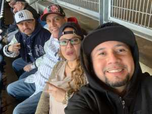 Placido attended New York Yankees vs. Detroit Tigers - MLB on Apr 1st 2019 via VetTix