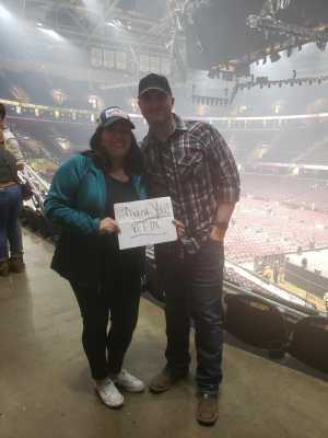 Lizza attended Eric Church: Double Down Tour Friday Only on Apr 19th 2019 via VetTix